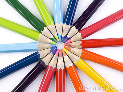 Pencil Circle Royalty Free Stock Photos - Image: 13443678