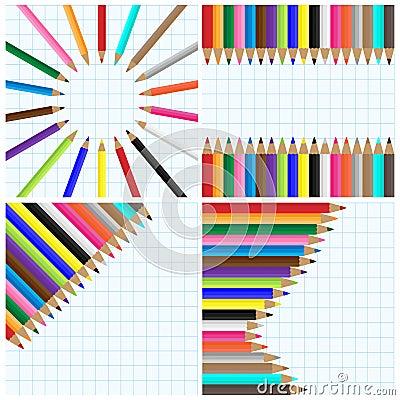 Pencil colors backgrounds
