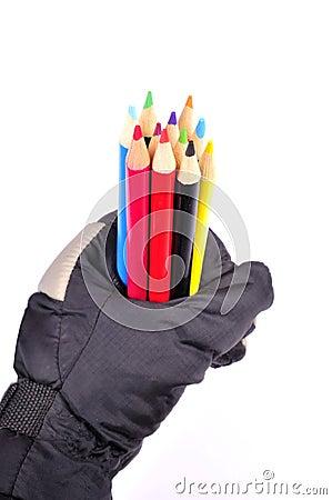 Pencil colours