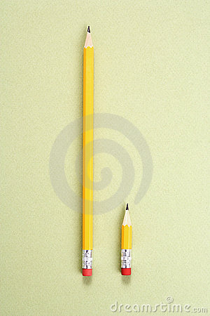 Free Pencil Comparison. Royalty Free Stock Photo - 2425705