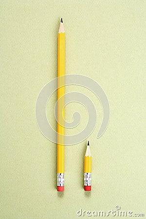 Pencil comparison.