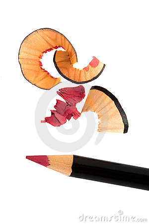 Pencil cosmetic sharpening with husk