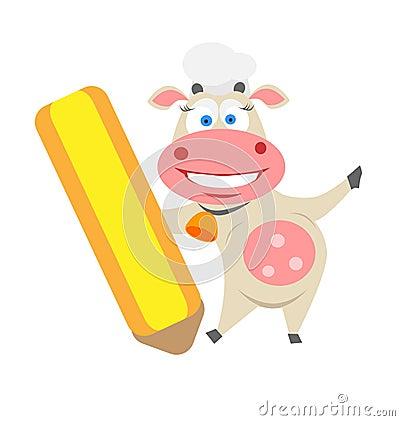 Pencil cow