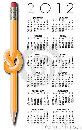 Pencil Design 2012 Calendar
