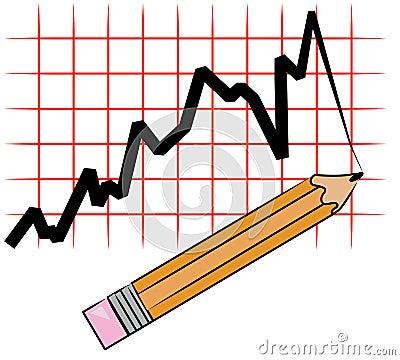 Pencil drawing graph