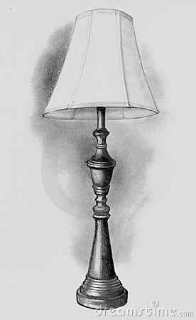 Pencil Drawing of Lamp
