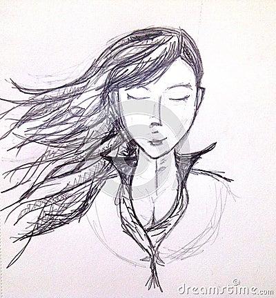 Pencil Girl Stock Photo - Image: 43316722