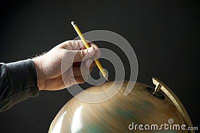 Pencil globe