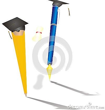 Pencil Graduating