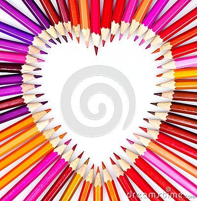 Pencil heart