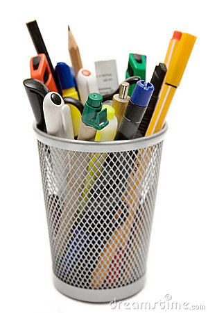 Free Pencil Holder Royalty Free Stock Photography - 601777