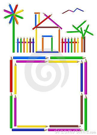 Free Pencil House Royalty Free Stock Photo - 7555085