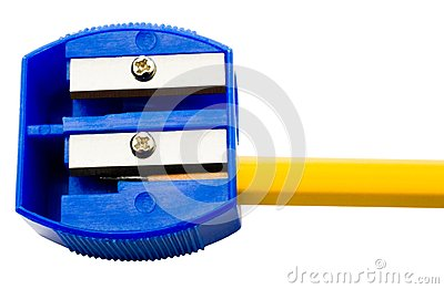 Pencil inside pencil sharpener