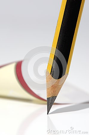 Pencil and note