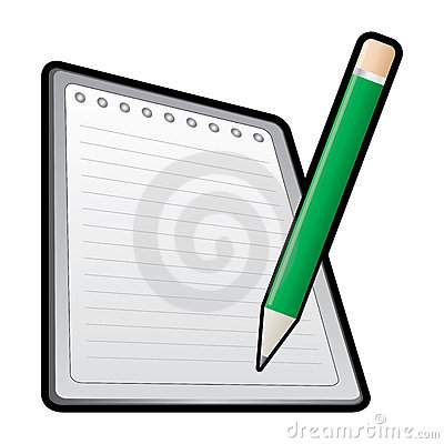 Pencil and notebook icon