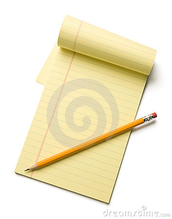 Free Pencil & Notepad Royalty Free Stock Images - 14552059
