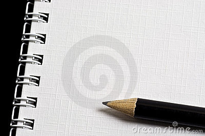 Pencil on notepad