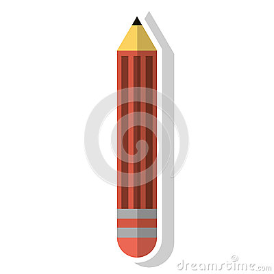 Pencil object and school tool design Vector Illustration