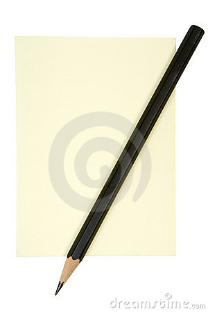 Free Pencil On Yellow Note Stock Photo - 3652210