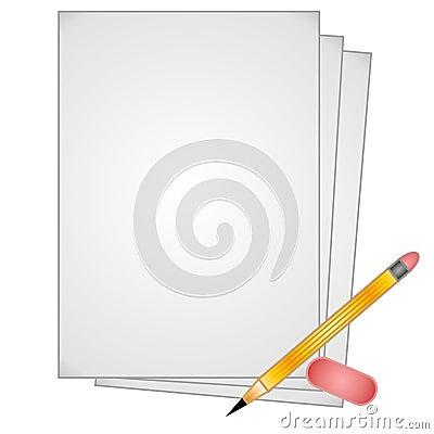 Pencil Paper Eraser Clip Art
