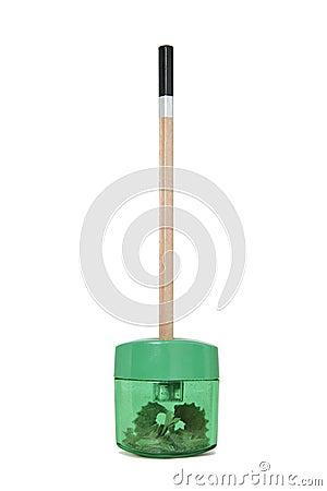 Pencil in a Sharpener