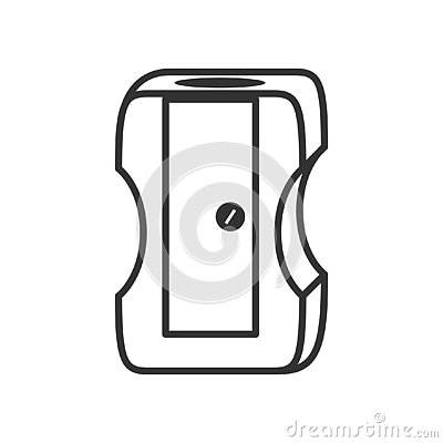 Free Pencil Sharpener Outline Flat Icon On White Royalty Free Stock Photo - 126782725