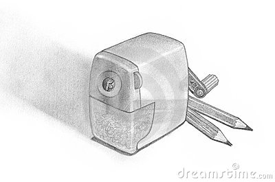Pencil Sharpener and Two Pencils