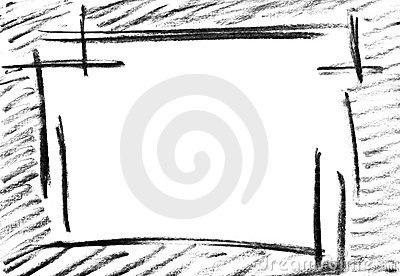 Pencil Sketch Of Empty Frame Royalty Free Stock Image - Image 19134316