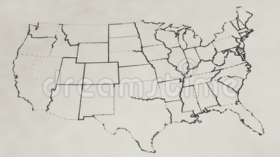 Pencil Sketch Of The United States Map Animation Stock Footage - Sketch drawing us map