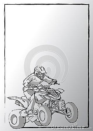 Pencil sketching of motorsport