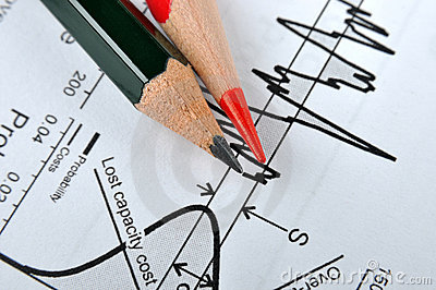 Pencil and statistical chart