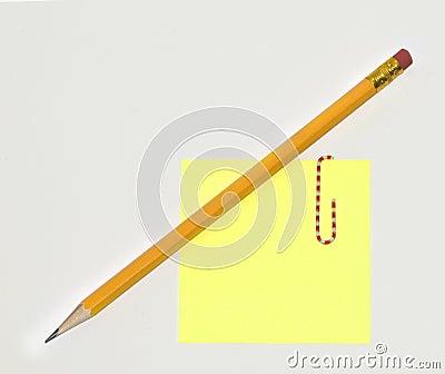 Pencil Sticky Note