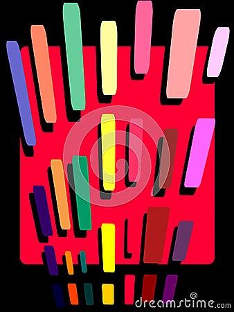 Pencil stroke abstract