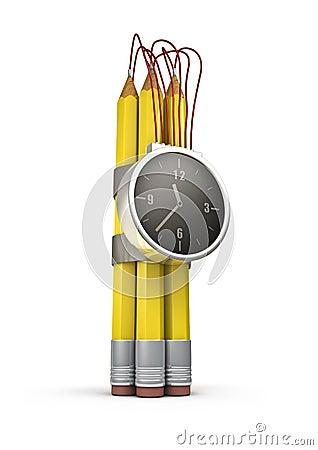 Pencil time bomb