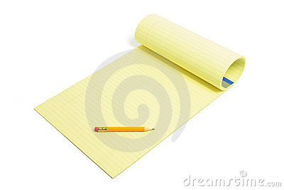 Pencil and Writing Pad