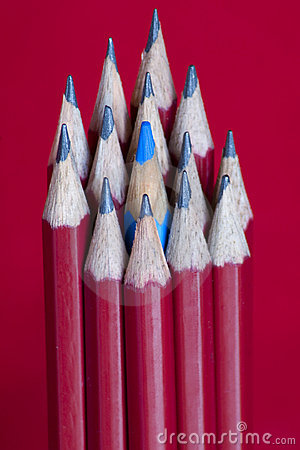 Pencils with blue