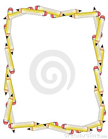 Free Pencils Border Or Frame Stock Photo - 4824760