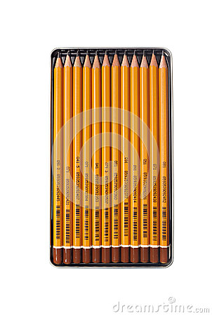 Pencils in box