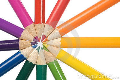 Pencils color circle