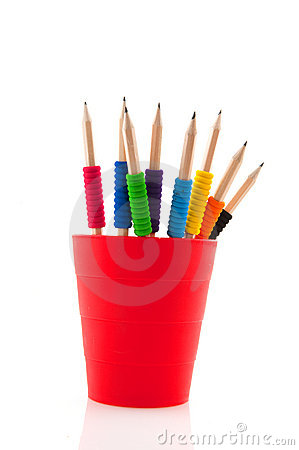 Pencils with colorful grip