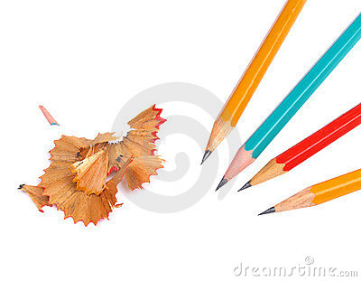 Pencils and cuttings isolated