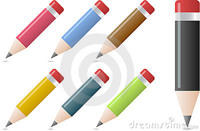 Pencils in different colors