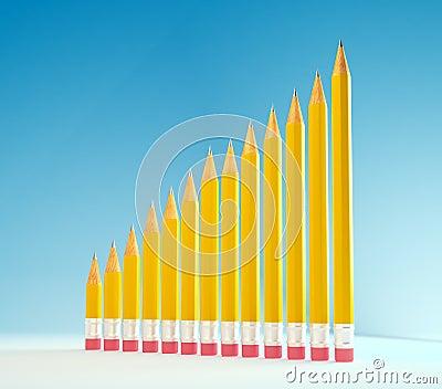 Pencils forming a graph