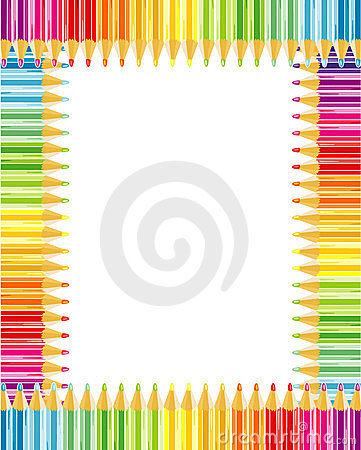 Free Pencils Frame Or Border Stock Images - 9008584