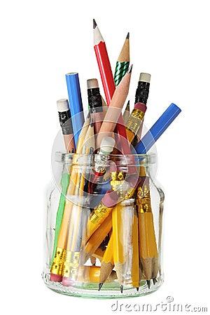 Pencils in Glass Jar