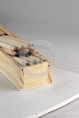 Free Pencils In A Pen Case Royalty Free Stock Photography - 56308367