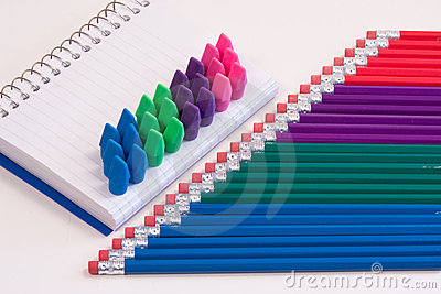 Pencils, Pad & Erasers