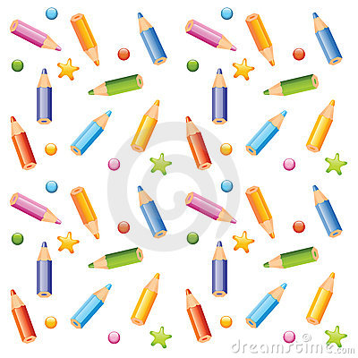 pencils seamless pattern