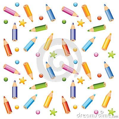 pencils seamless pattern