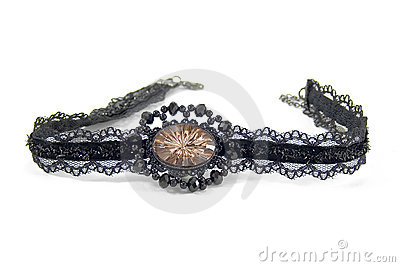 Pendant lace black